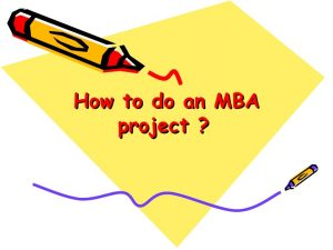 readymade MBA project
